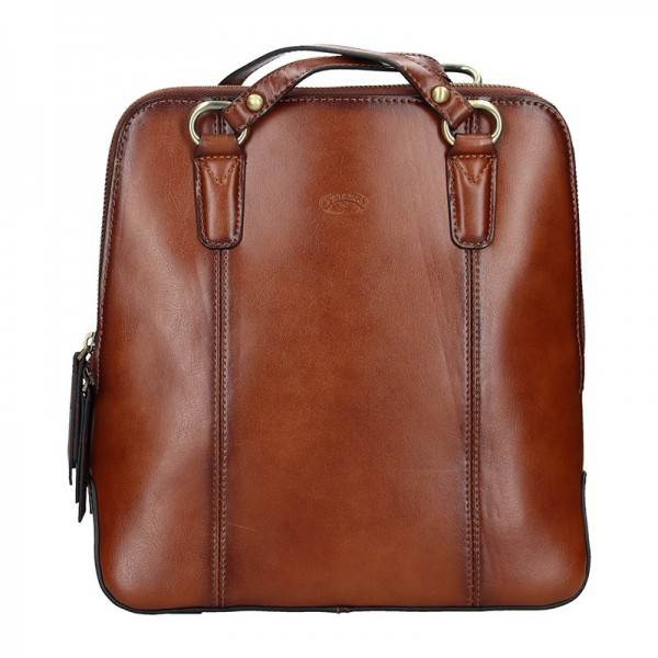Dámská kožená batůžko kabelka Katana Martina – hnědá