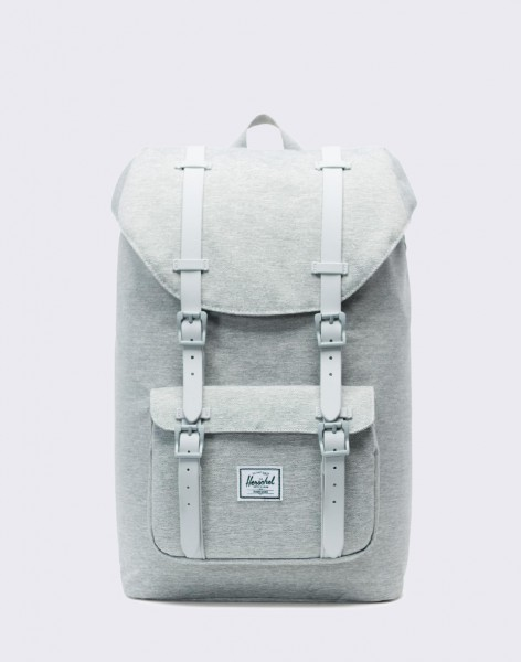 Batoh Herschel Supply Little America Mid-Volume Light Grey Crosshatch/ Grey Rubber
