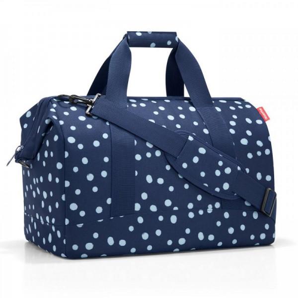 Reisenthel Allrounder L Spots Navy dámská brašna ve tvaru doktorského kufříku