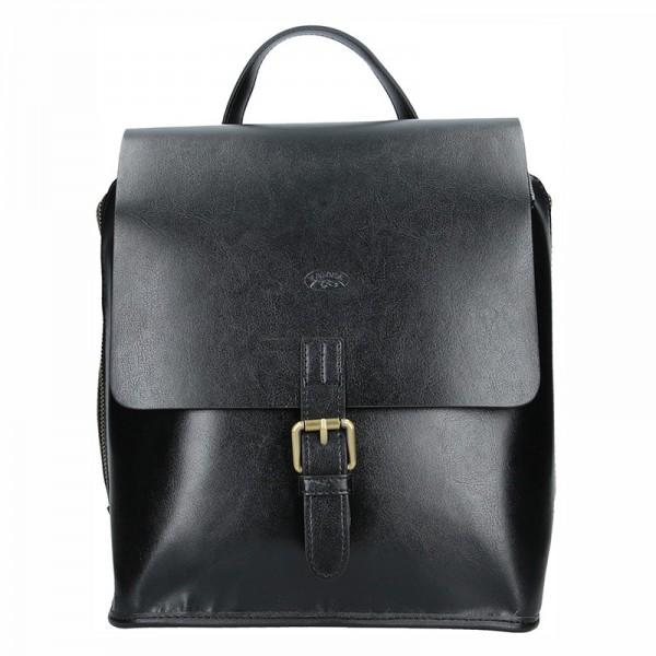 Elegantní dámský kožený batoh Katana Petronela – černá