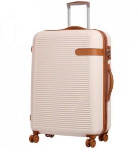 ROCK TR-0159 Valiant L Cream cestovní kufr na 4 kolečkách TSA 71 cm 85-107 l