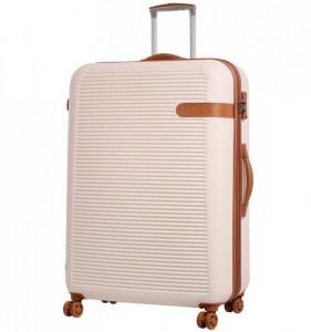ROCK TR-0159 Valiant XL Cream cestovní kufr na 4 kolečkách TSA 81 cm 130-159 l