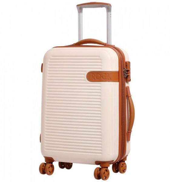 ROCK TR-0159 Valiant S Cream palubní kufr na 4 kolečkách TSA 55x38x24 cm 37-47 l
