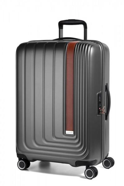 March Skořepinový cestovní kufr Beau Monde 65 l – antracitová