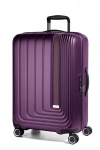 March Skořepinový cestovní kufr Beau Monde 65 l – fialová