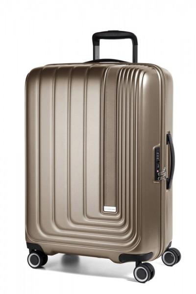 March Skořepinový cestovní kufr Beau Monde 65 l – silver bronze