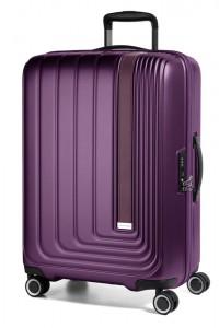 March Skořepinový cestovní kufr Beau Monde 101 l – fialová
