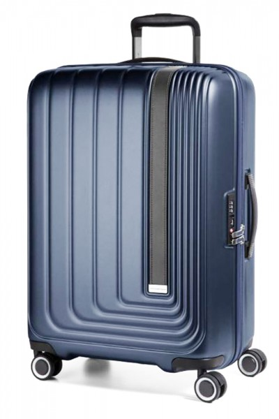 March Skořepinový cestovní kufr Beau Monde 101 l – modrá