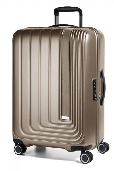 March Skořepinový cestovní kufr Beau Monde 101 l – silver bronze