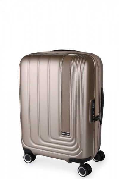 March Kabinový cestovní kufr Beau Monde 41 l – silver bronze