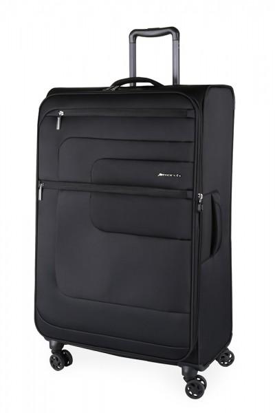 March Textilní cestovní kufr Classic 70/83 l – černá