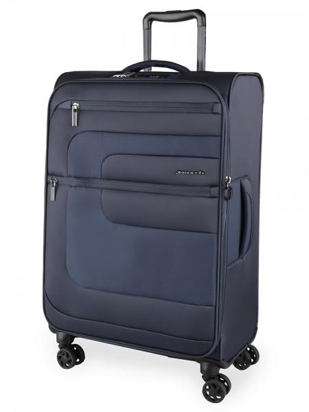 March Textilní cestovní kufr Classic 104/121 l – tmavě modrá