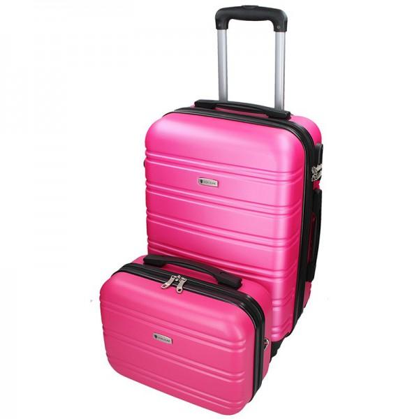 Sada dvou cestovních kufrů Airtex Worldline 531/2 – růžová