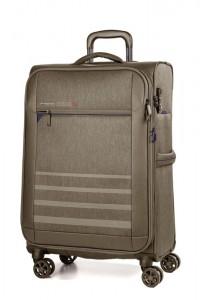 March Textilní cestovní kufr Sigmatic 70/83 l – kasmir – khaki