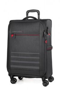 March Textilní cestovní kufr Sigmatic 70/83 l – tmavě šedá