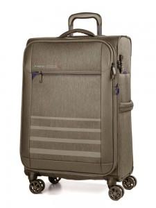 March Textilní cestovní kufr Sigmatic 104/121 l – kasmir – khaki