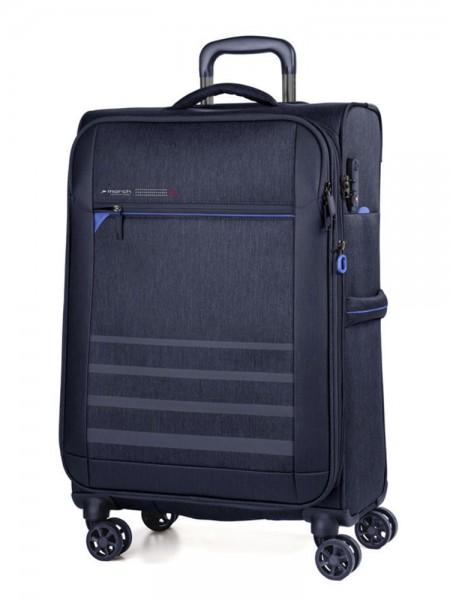 March Textilní cestovní kufr Sigmatic 104/121 l – tmavě modrá