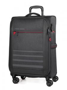March Textilní cestovní kufr Sigmatic 104/121 l – tmavě šedá