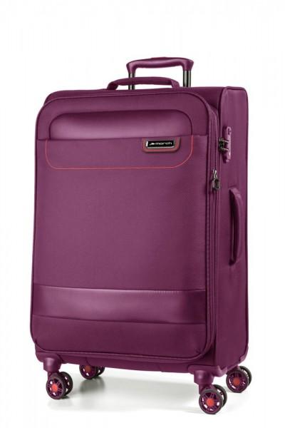 March Textilní cestovní kufr Tourer 70/83 l – fialová