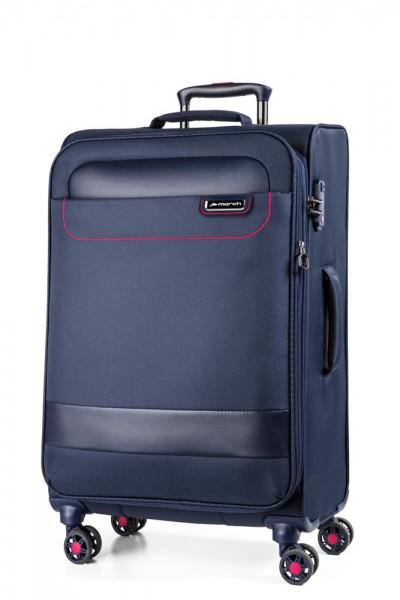 March Textilní cestovní kufr Tourer 70/83 l – tmavě modrá