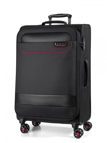 March Textilní cestovní kufr Tourer 104 l – černá