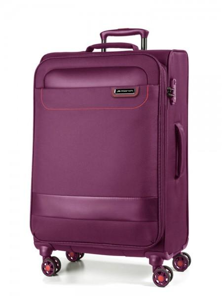 March Textilní cestovní kufr Tourer 104 l – fialová