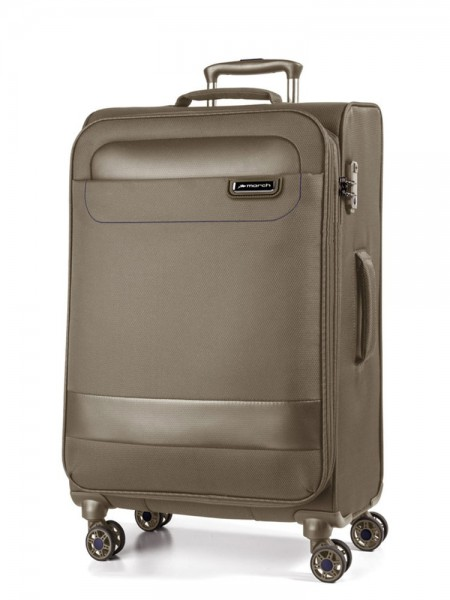 March Textilní cestovní kufr Tourer 104 l – kaschmir – khaki