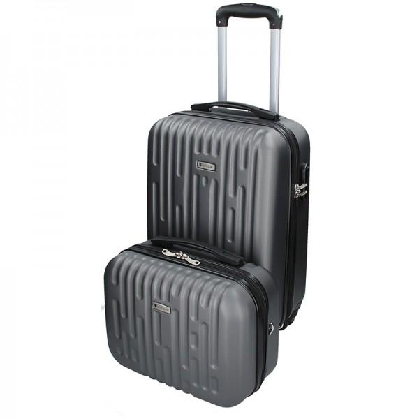 Sada dvou cestovních kufrů Airtex Worldline Kuga – šedá
