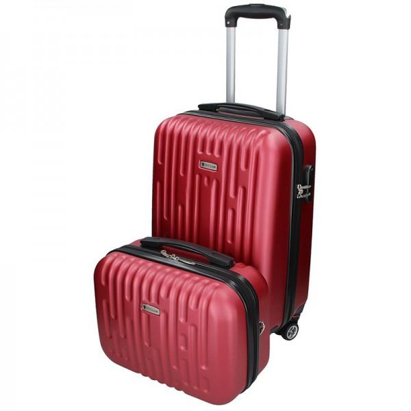 Sada dvou cestovních kufrů Airtex Worldline Kuga – tmavě červená