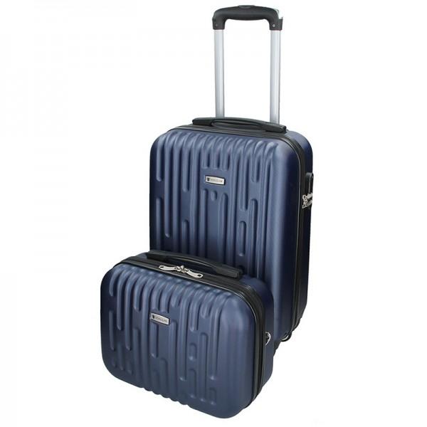 Sada dvou cestovních kufrů Airtex Worldline Kuga – modrá