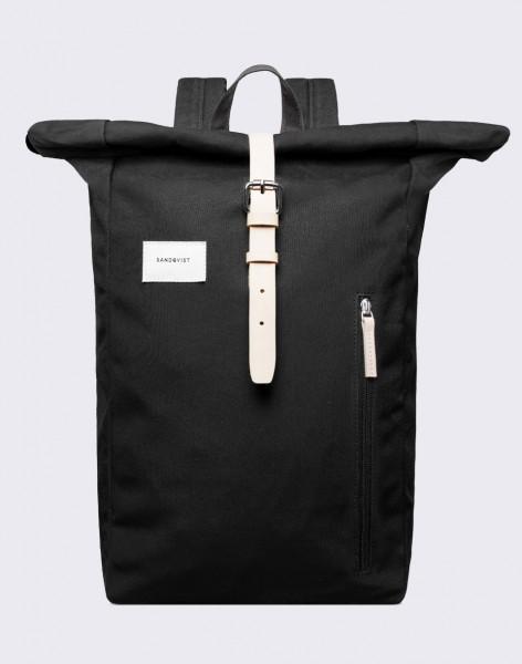 Batoh Sandqvist Dante Black with Natural Leather