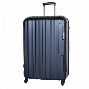 March Cosmopolitan L Metal Navy skořepinový cestovní kufr na 4 kolečkách TSA 77 cm
