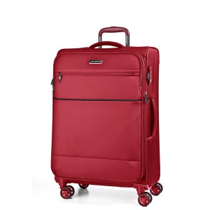 March Střední cestovní kufr Easy 69 l – červená