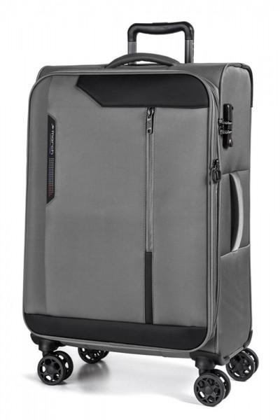 March Textilní cestovní kufr Stardust 104/121 l – šedá