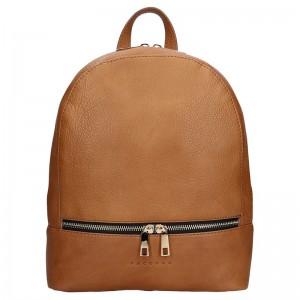 Dámský kožený batoh Facebag Paloma – hnědá
