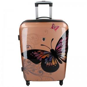 Cestovní kufr Madisson Ritta L – růžovo-zlatá