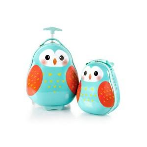 Heys Travel Tots Owl / Sovička dětská sada cestovního kufru 46 cm a batohu