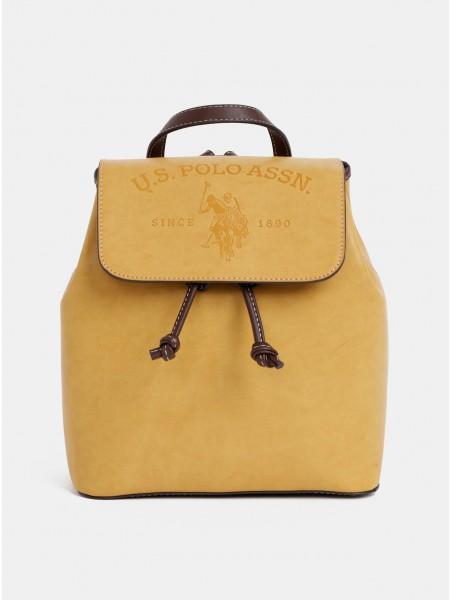 Hořčicový dámský batoh U.S. Polo Assn.