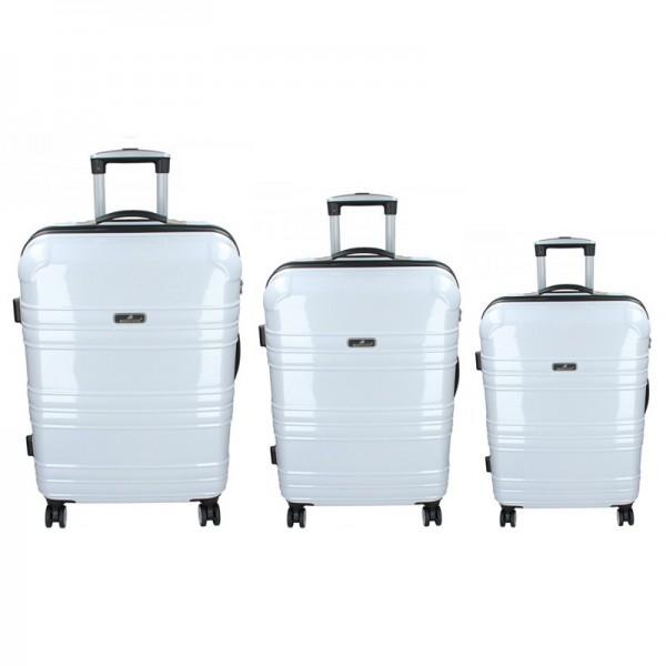 Sada 3 cestovních kufrů Madisson Monaco S,M,L – bílá