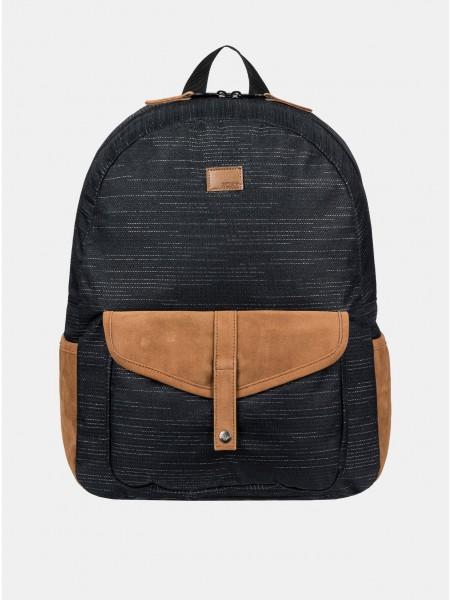 Černý žíhaný batoh Roxy Carribean Solid 18 l