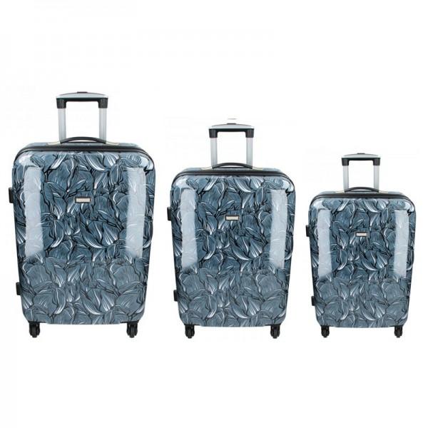 Sada 3 cestovních kufrů Madisson Nice S,M,L – tmavě modrá