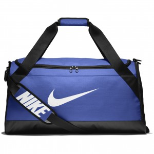 Taška Nike NK BRSLA M DUFF GAME ROYAL/BLACK/WHITE