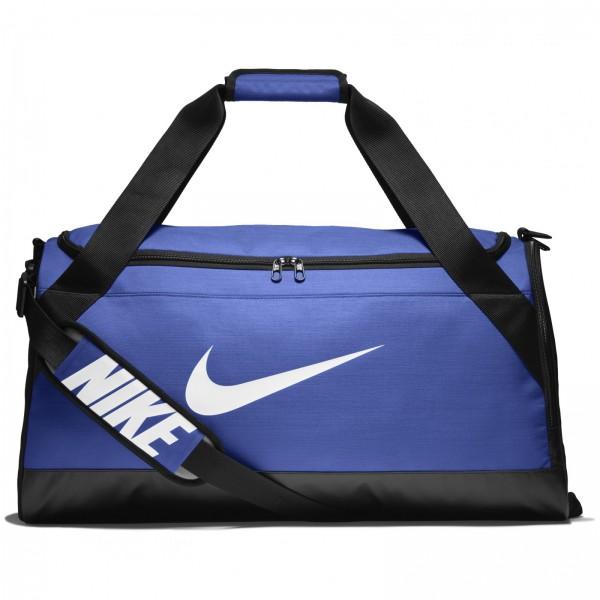 Taška Nike NK BRSLA M DUFF GAME ROYAL/BLACK/WHITE