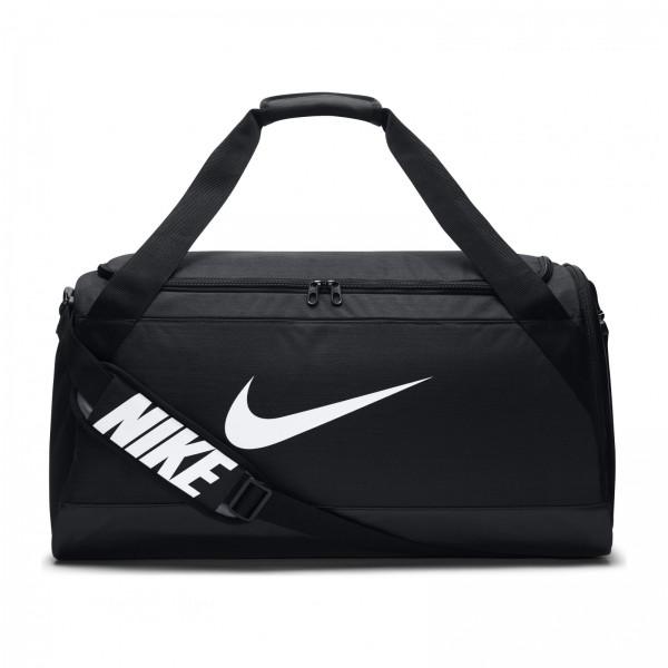 Taška Nike NK BRSLA M DUFF BLACK/BLACK/WHITE