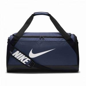 Unisex taška Nike NK BRSLA M DUFF MIDNIGHT NAVY/BLACK/WHITE