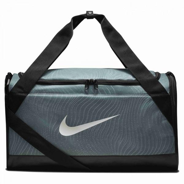 Unisex Taška Nike NK BRSLA S DUFF – AOP CLAY GREEN/BLACK/WHITE