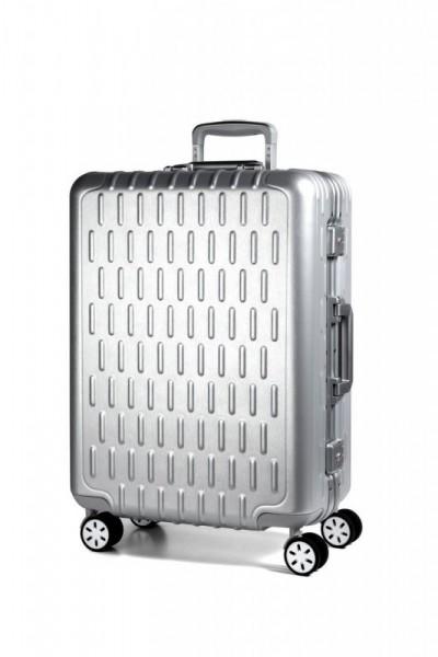 March Discovery L cestovní kufr s hliníkovým rámem 2xTSA 75 cm Aluminum Silver