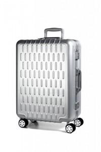 March Discovery S palubní kufr s hliníkovým rámem 2xTSA 55 cm Aluminum Silver