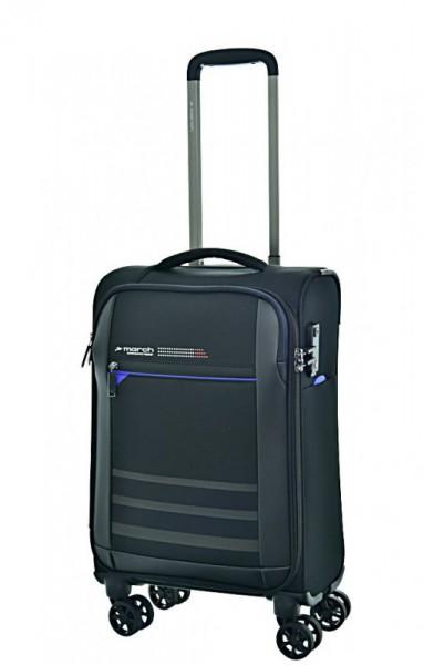 March Sigmatic S ultralehký palubní kufr TSA 55x35x20 cm 1,8 kg Black