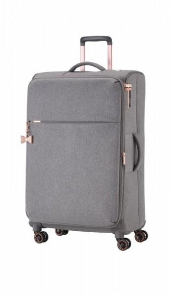 Titan Barbara 4w L elegantní dámský cestovní kufr TSA 79 cm 94/106 l šedý